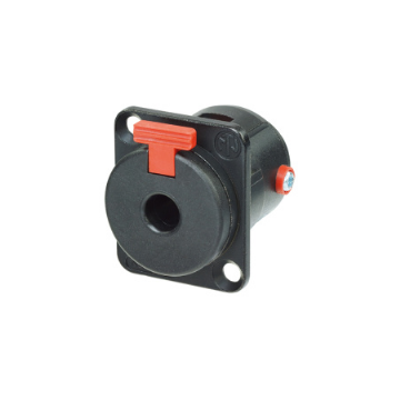 Neutrik NJ3FP6C-BAG Locking 6.35mm Panel Jack Socket, Black